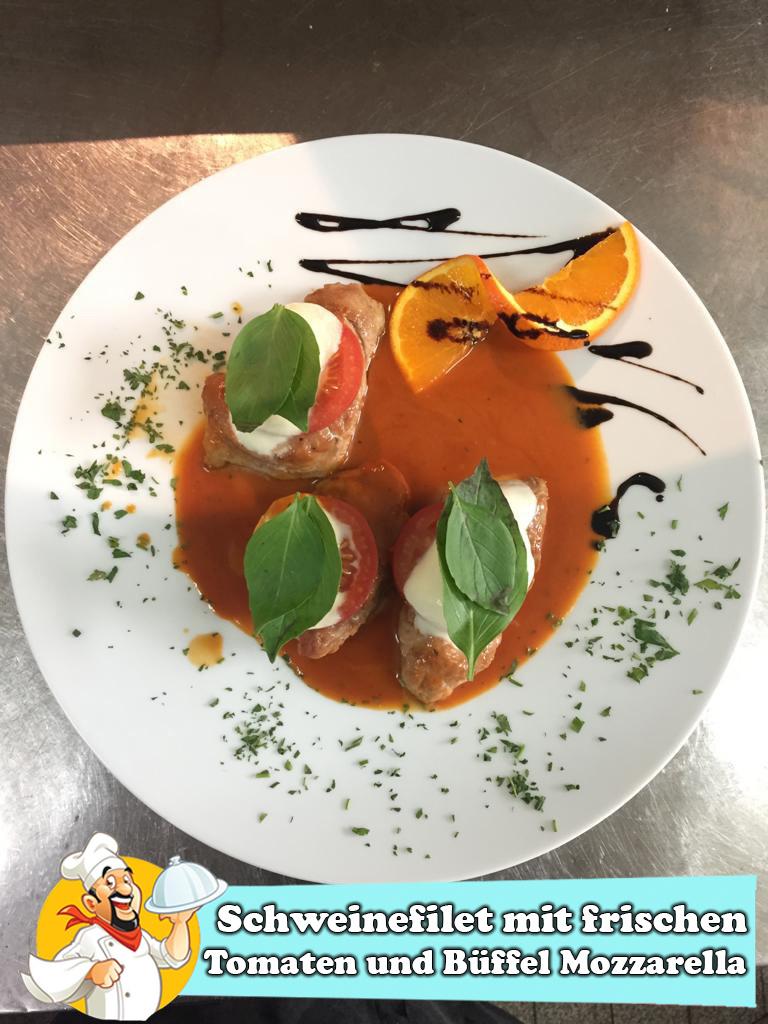 Schweinefilet mit frischen Tomaten und Büffel Mozzarella-2